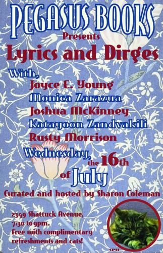 Lyrics and Dirges: A Monthly Reading Series